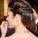 Alia Bhatt Tattoo